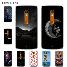 I am alone Phone Cases For Motorola Moto X Play 5.5 inch Hard Plastic Patterned Mobile Fashion Bag For Moto X Play Free Shipping pudini wb moto x protective plastic back case for moto x phone purple red
