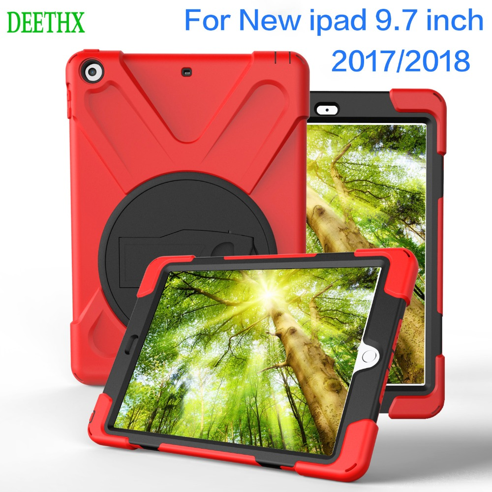 For New iPad 9.7 inch 2017 2018 model,for Kids Duty Shockproof Hybrid Rubber Rugged Hard Protective Cover Case for iPad new 9.7