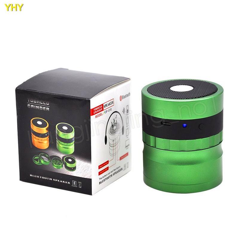 Bluetooth Grinders 62mm metal herb grinder for tobacco grinder speaker 2 in 1 creative smoking grinders Accessories GGA99504