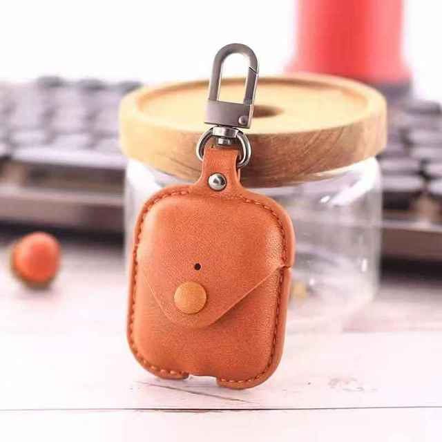 Airpods 2 Accessories For iPhone AirPods Case Key Luxury Leather Storage Bag Earphone Cover With Keychain 1