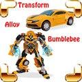 Presente do menino Brinquedo Carro Robô Transformável Bumblebee Transformação Robot Distortion Brinquedo Modelo Coleção Figuras Liga Corpo Da Máquina