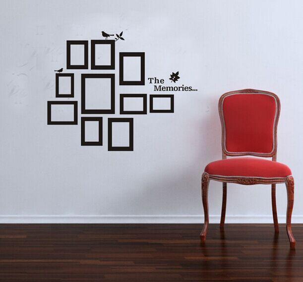 ᐃFoto Marcos pared negro etiqueta del vinilo decoración del arte ...