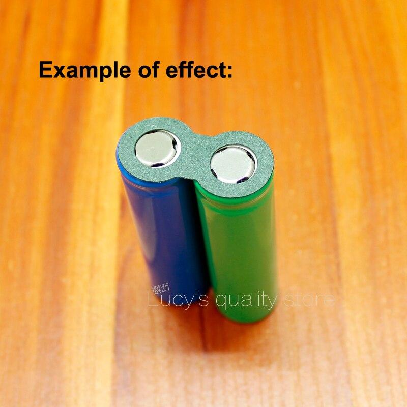 Купить с кэшбэком 100pcs/lot 32650 32700 Lithium Battery Positive Hollow Hollow Insulation Gasket No. 1 Battery Hollow Flat Face Pad Meson