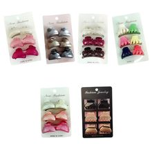 6pcs Women Girls Plastic Grip Hair Claw Clip Girls Hairpin Crab Clamp Accessories claw hair clip 6pcs