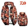 Мужская водонепроницаемая камуфляжная куртка Daiwa  быстросохнущая куртка с капюшоном  рубашка для рыбалки  2019