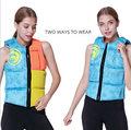 HISEA vrouwen nieuwe gevouwen leven vest, super-bullet vest, drijvende surfen draagbare hoge drijfvermogen reddingsvest
