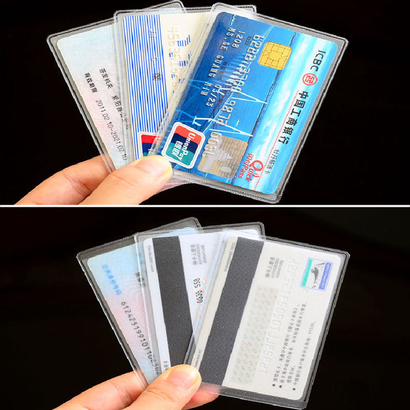 ISKYBOB 10pcs Credit Card Protector Secure Sleeves ID Card Holder ...