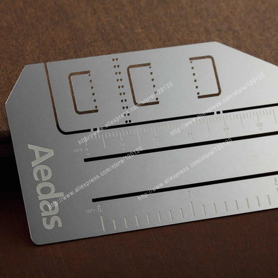 Personalized cutout quality stainless steel business metal card