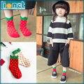 Fresa Dulces colores Espesar Algodón Niños Calcetines Adecuados para 1-10 años Muchachas de los Niños Calientes del Invierno Calcetines de Navidad Calcetines