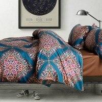 Mandala TUTUBIRD-100 % Bohemia Buho de Algodón Egipcio Juego de Cama Edredón Sábanas Fundas de Almohada Queen King Size ropa de cama