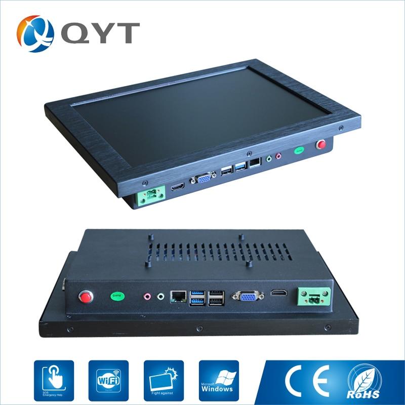 12 aio intel j1900 2.0GHz Industrial pc 2GB DDR3 32G SSD Barebone Gaming Computer With 4*USB VGA RS232 цена