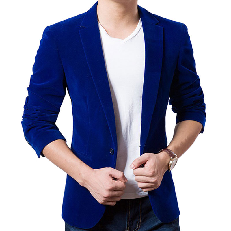 Online Buy Wholesale royal blue blazers for men from China royal ...