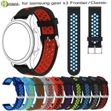 Colorful Silicone Watchband for Gear S3 Classic Frontier 22mm WristBand Replace Rubber Bracelet for Samsung Gear S3 watchStrap(China)