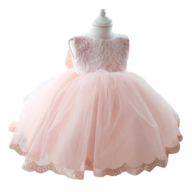 Baby girl clothes Bowknot dress Birthday wedding girl floral princess Party Dress Summer tutu girl dresses children clothing hurave 2017 summer lace baby dress party wedding birthday baby girls dresses princess dress infant floral dress baby clothing