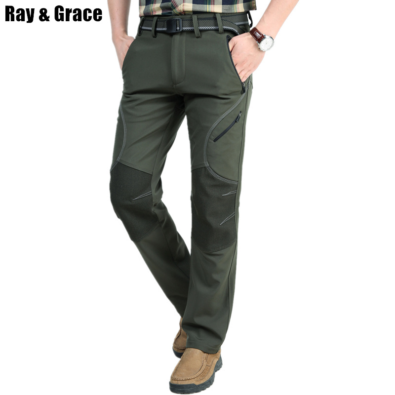 RAY GRACE Men's Outdoor Sport Pants Hiking Camping Hunting Pants Water-resistant Mountain Climbing Trousers For Men High Quality