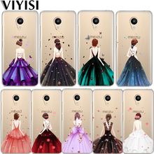 VIYISI For Meizu M6 5 Note Phone Case Cover M5S 5C M3s 3 Pro6 U10 U20 Evening Dress Girl Soft Silicone TPU Back Coque Shell