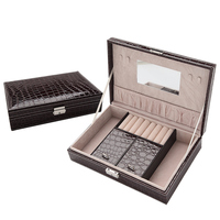 Wooden Jewelry Boxes Princess Style Simple Jewelry Cosmetics Storage Box with Lock Large Capacity Jewelry Storage Boxes