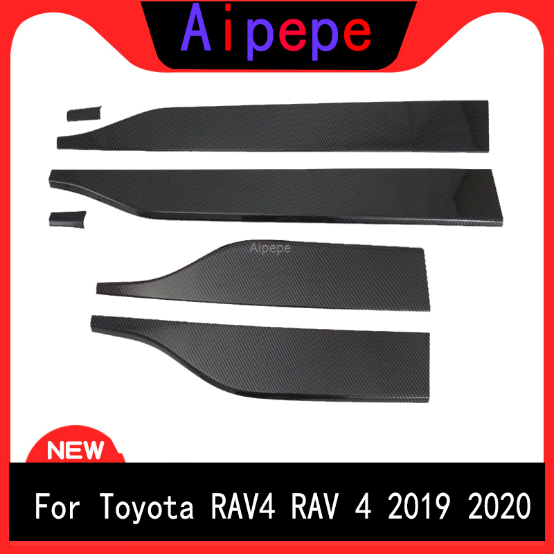 For Toyota RAV4 XA50 2019 ABS Car Accessories Exterior Side Door Panel Body Molding Decoration Cover Trim 6pcsFor Toyota RAV4 XA50 2019 ABS Car Accessories Exterior Side Door Panel Body Molding Decoration Cover Trim 6pcs