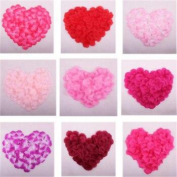1000pcs Wedding petals Artificial Silk Rose Petals Flowers Petalas Petalos Wedding Bridal Shower Aisle Vase Decor Confetti 8Z