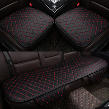 KKYSYELVA Summer Seat Cover Cushion Pad Mat for Auto Supplies Office Chair Flax Universal Car styling