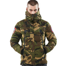 3146f3462ee7d Man's Winter Jackets Men Cotton Parkas Casual Outerwear Coat Mens Jacket  army Coats Windbreaker Parka streetwear Camo Green XXXL
