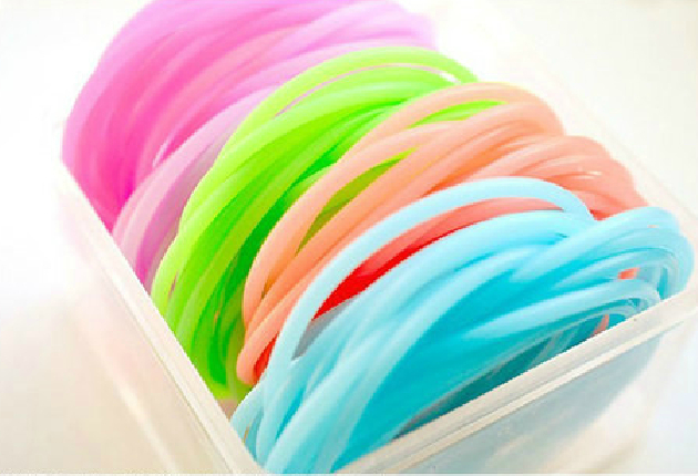 Jelly candy color silica gel bracelet neon hand Elastic Ties Hair Band e100a53b2ee