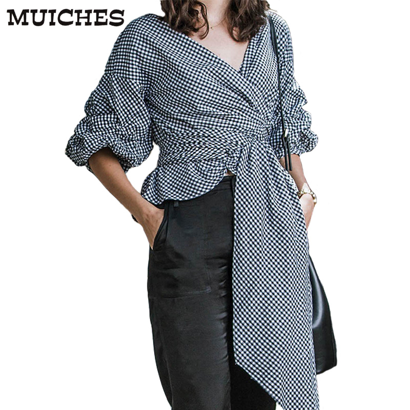 Muicehs Casual Ruffled Off Shoulder Women Blouse 2018 Spring Sexy