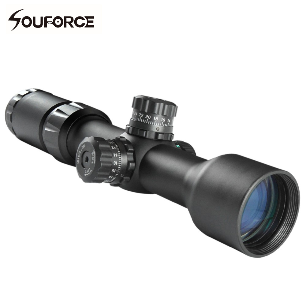 Long Range Rifle Scope 1.5-5x40BE Tactical Locking Turret Side Focus Optical Sight Adjusted for 100 yards marcool evv 6 24x50 sfirgl first focus plane tactical rifle scope