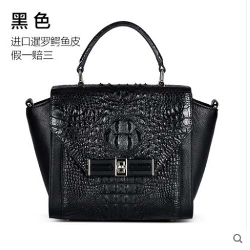 kadilaier New crocodile leather lady bag genuine leather Thai crocodile leather bag single shoulder cross  wing women handbag kadilaier New crocodile leather lady bag genuine leather Thai crocodile leather bag single shoulder cross  wing women handbag
