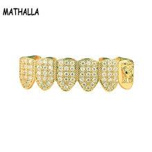 Золотая медная гриля mathalla в стиле хип хоп европейском и