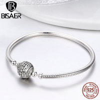 Femme Bracelet pulsera 925 Sterling Silver Delicate Life Basic Chain Charm Bracelet for Women Fine Jewelry DIY Accessories Gift