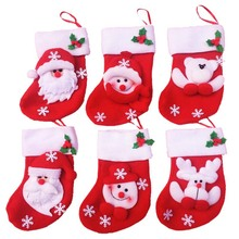Christmas Stockings 6pcs/lot  Mixed Design Christmas Ornaments For The Christmas Tree Home Garden Decoration Weihnachtsdeko A139