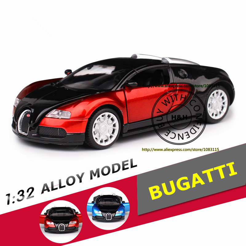 2 Colors 1:32 BUGATTI-VEYRON Metal Diecast Model Car Toys For Children Boys Miniature Sound and Light Alloy Model Car Gift maisto jeep wrangler rubicon fire engine 1 18 scale alloy model metal diecast car toys high quality collection kids toys gift