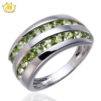 Natural Green Peridot Gemstone Solid 925 Sterling Silver Ring Fine Jewelry