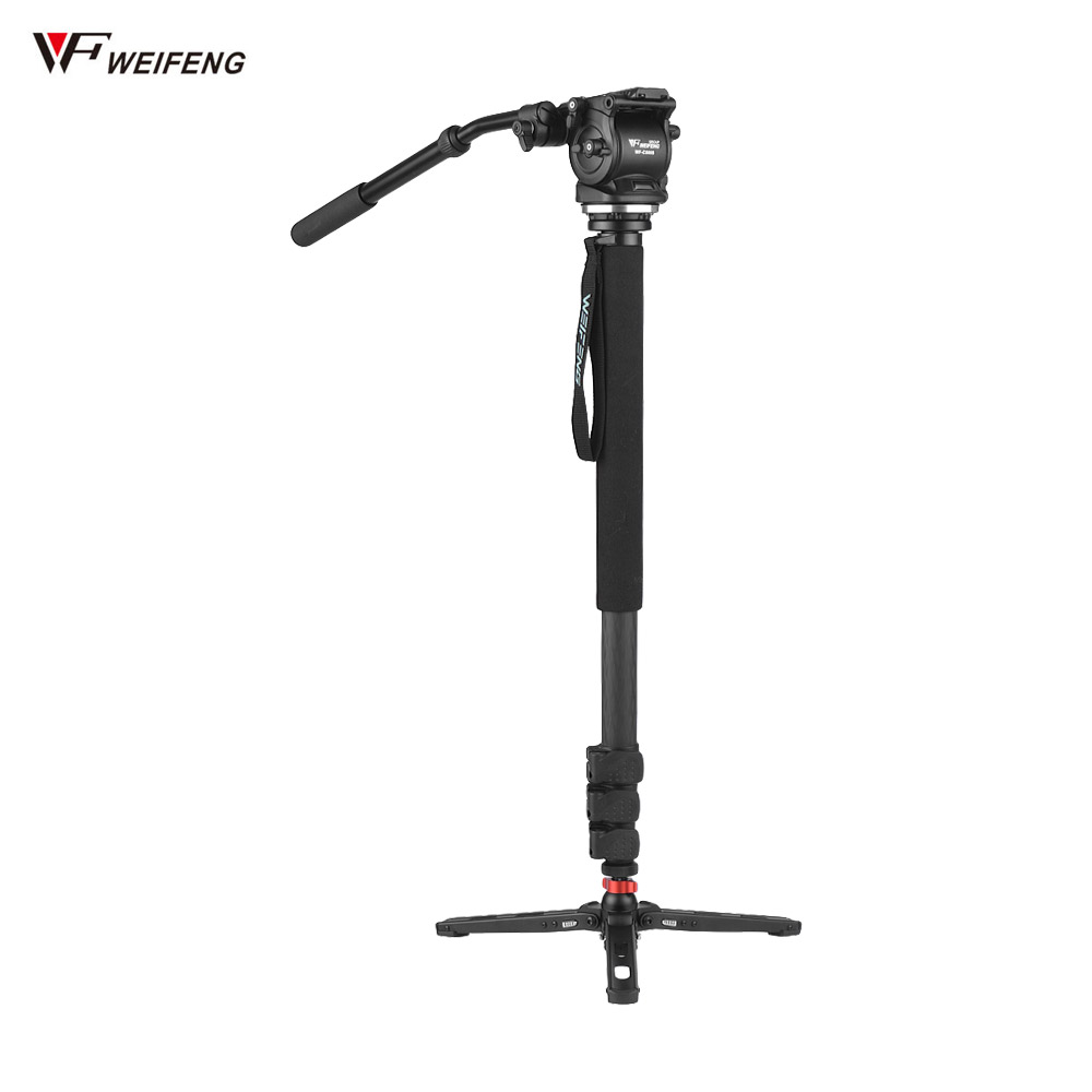 WEIFENG WF C500S 74 Carbon Fiber Tripod Monopod Stand for Camera DSLR Camera Photography Monopod for