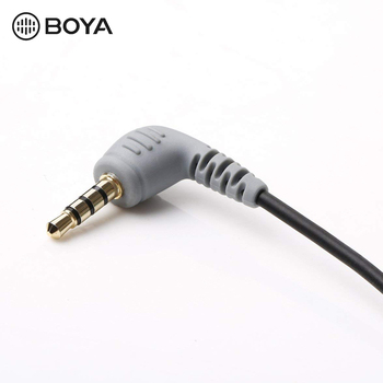 BOYA BY-CIP2 3.5mm To TRRS TRS Microphone Cable Adapter For IPad IPod Touch IPhone BY-WM8 BY-WM6 BY-WM5 Microphone Accessories
