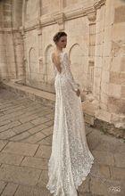 Frauen backless V-ausschnitt Lace crochet Boden Länge Partei-kleid abendkleid vestidos Volle hülse elegante Kleid