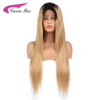 Carina Full Lace Human Hair Wigs with Baby Hair Glueless Lace Wigs with Natural Hairline Brazilian Remy Ombre Color Hair 1b27 - DISCOUNT ITEM  30% OFF All Category