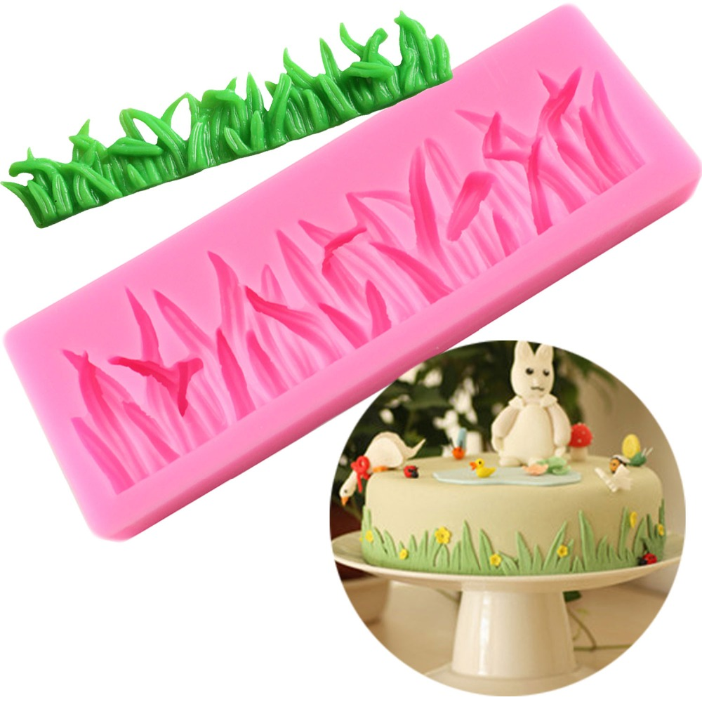 Grass Shape <font><b>Cake</b></font> <font><b>Decorative</b></font> <font><b>Silicone</b></font> <font><b>Mold</b></font> <font><b>Fondant</b></font> Cookie Chocolate Mould Candy <font><b>Cake</b></font> Pudding Muffin <font><b>Molds</b></font> DIY Baking <font><b>Tools</b></font> image