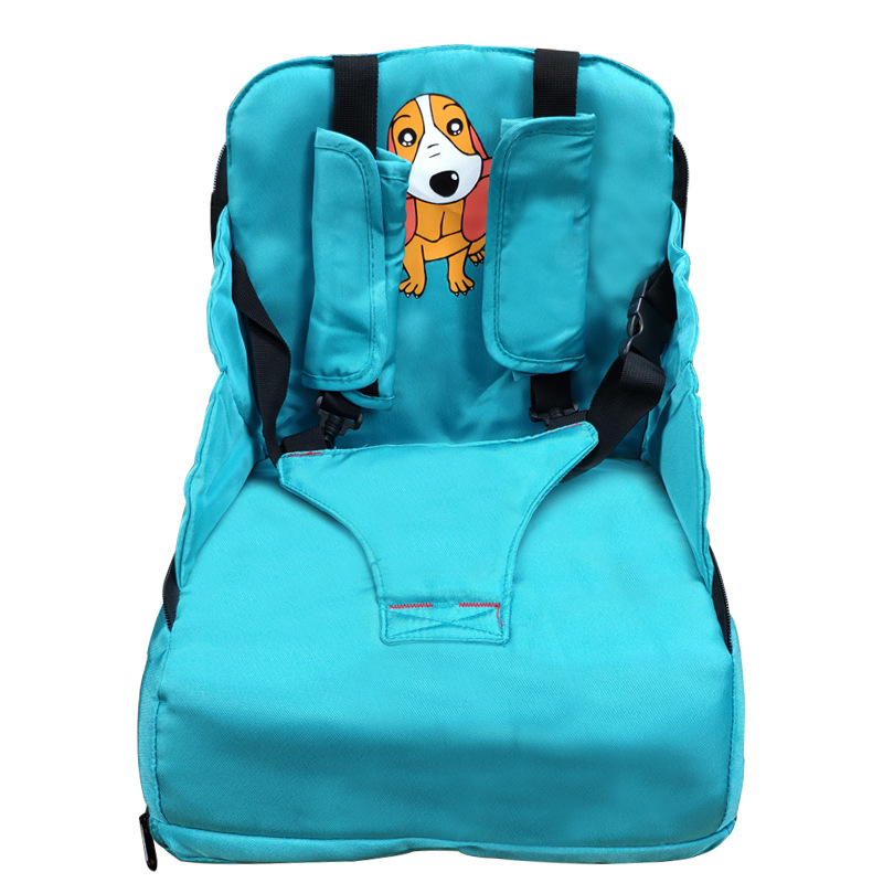 Polyester Portable Baby Eating Booster Seats Feeding High Chair Seat Belt Kids Protection Safety Dining Guard Folding Diaper Bag