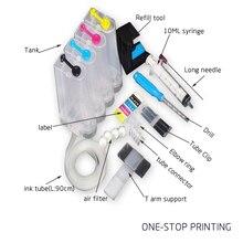Универсальный 4 color система непрерывной подачи чернил с accessaries чернильнице для использования в hp canon brother epson all снпч принтер