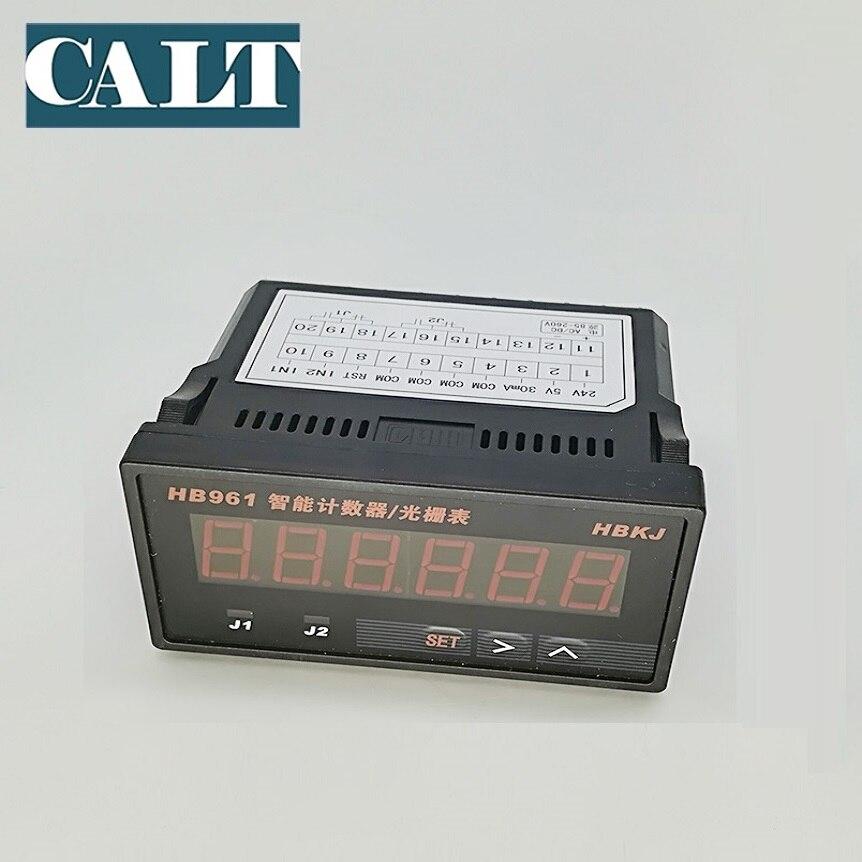 Indicateur de compteur numérique HB961 à 6 chiffres 24 V dc ou 220 V ac pour encodeur de signal d'impulsion et capteur