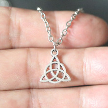 Charm Knot Triquetra Trinity Pewter Necklace Vintage Silver Triangle Pendant Necklaces For Men Fashion Jewelry Accessories цена
