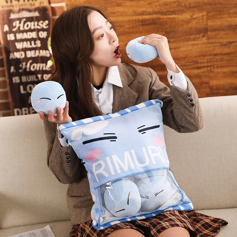 Anime Tensei Shitara Slime Datta Ken Rimuru Tempest Cute Cosplay Plush Doll Cartoon Stuffed Sofa Cushion Pillow Christmas Gift
