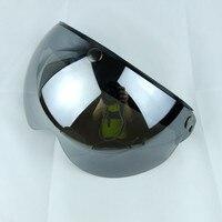 Thh 3 snap viso para capacete da motocicleta do vintage scooter jet pilot retro abrir rosto capacete lente óculos à prova de vento