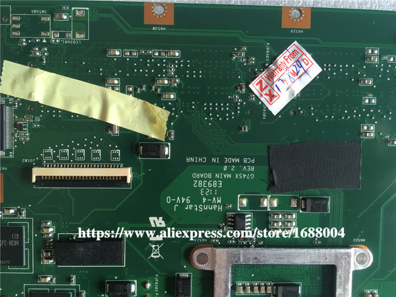 For ASUS G74SX Mainboard 60-N56MB2800 GTX560M 3GB 2D Connector 4 Ram Slots