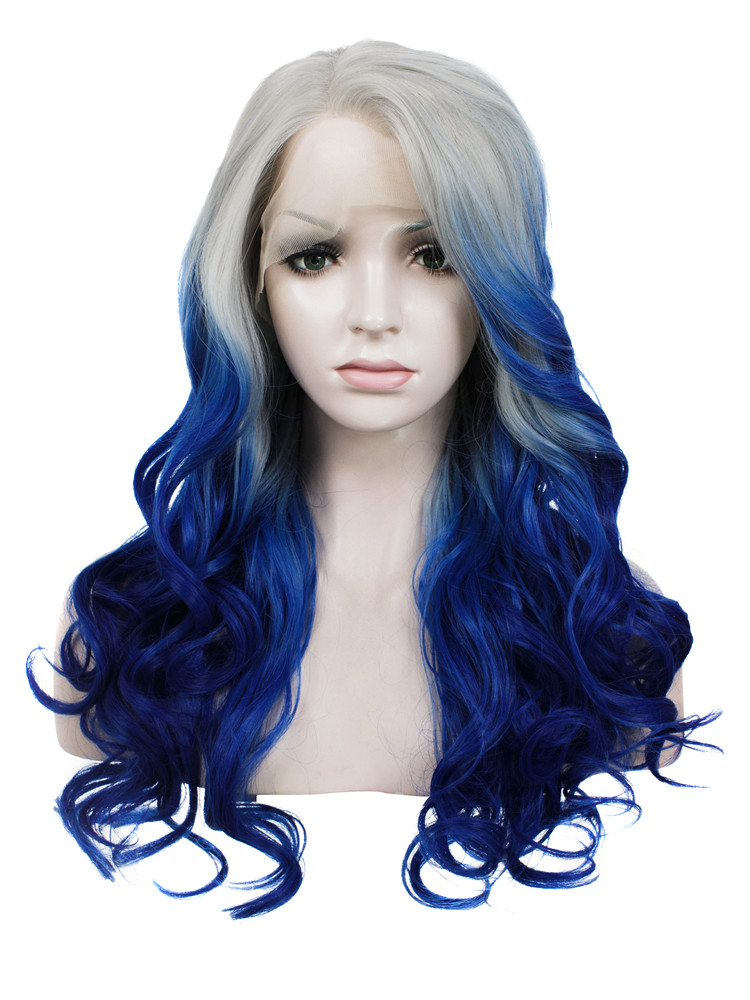 Drag Queen Cosplay Fake Hair Imstyle Wavy Ombre Black