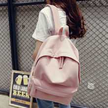 2018 new South Korea solid washed cowboy schoolbag men and women couple bag larg