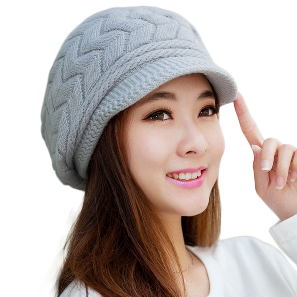 HOT Autumn Winter Beanies Knitted Hats Rabbit Fur Cap Snapback Cap Ladies Female Fashion Skullies Elegant Women Hats Casual skullies hot sale female tide leather braids knitted cap autumn and winter women s curling ear warmers headgear 1866784