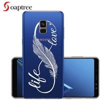 Silicone Phone Case For Samsung Galaxy A7 A8 Plus 2018 A730 A730F Case Cover For Samsung A5 A8 2018 A530 A530F Cover Clear Shell цена